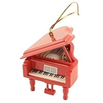 Grand Piano Ornament, Red