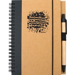 Notebook & Pen w/Music Splatter Print